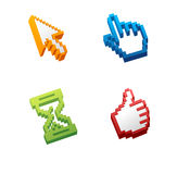 Computer cursors. Vector computer cursors set isolated Stock Photography