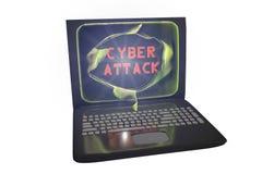 Computer cyber aanval, conceptueel beeld Stock Afbeeldingen