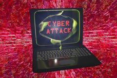Computer cyber aanval, conceptueel beeld Royalty-vrije Stock Afbeelding