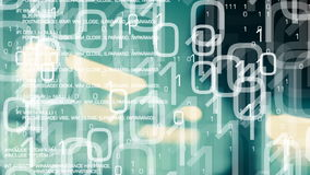 Computer cyber attack, cybersecurity green background. Trojan and binary code motion graphics, computer cyber attack abstract background stock footage