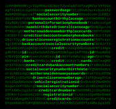 Computer Cyber Crime Hacker Stock Photography