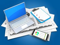 Computer 3d Lizenzfreie Stockfotografie