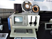 Computer d'annata di Roma fotografia stock libera da diritti