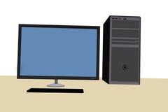 Computer 3d in der Vorderansicht Lizenzfreie Stockfotos