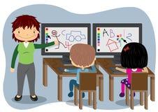 Computer d'istruzione Fotografia Stock Libera da Diritti