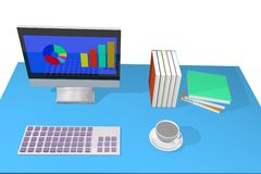 Computer 3d Royalty Free Stock Photo