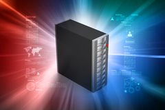 Computer data centre. In color background Royalty Free Stock Photos