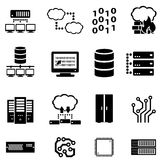 Computer, cyber security, data and cloud computing. Computers, cyber security, data, cloud computing icon set Stock Images