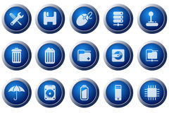 Computer and Data icons Royalty Free Stock Image