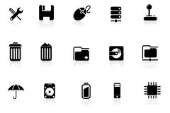 Computer & Data icons |part 9 black series Royalty Free Stock Image