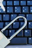 Computer Data Privacy & Security. This is an image of a computer keyboard with a padlock and key stock image