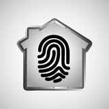 Computer data protection fingerprint graphic Stock Image