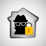 Computer data protection thief lock icon Stock Photos