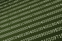 Computer data on screen Royalty Free Stock Image