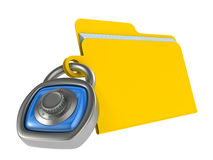 Computer data security concept Royalty Free Stock Images