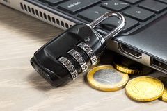 Computer data security Royalty Free Stock Photo