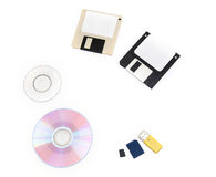 Computer data storage media Royalty Free Stock Photos