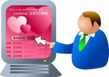 Computer dating Stock Image