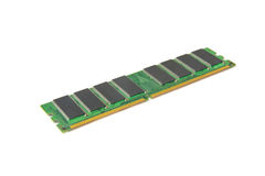 Computer DDR RAM memory module isolated on white background Royalty Free Stock Images