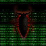Computer del virus Fotografia Stock Libera da Diritti