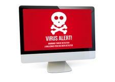 Computer del virus Fotografie Stock Libere da Diritti
