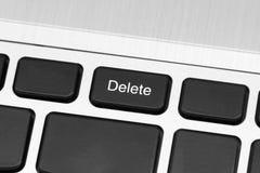Computer delete key  safe mode Stock Photo