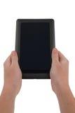 Computer della compressa con lo schermo in bianco isolato Fotografie Stock Libere da Diritti