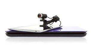 Computer della compressa e del computer portatile con il webcam di HD Fotografie Stock Libere da Diritti