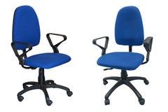Computer della sedia di due blu Fotografia Stock