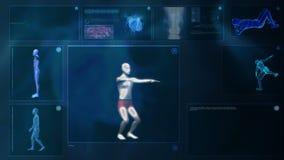 Computer, der den menschlichen Körper röntgt stock abbildung