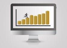 Computer design template. Money graph. Vector Stock Photography