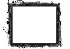 Computer designed grunge border. Great for textures and backgrounds for your projects Stock Photography