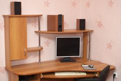 Computer desk Stock Images