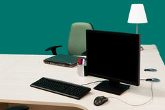 Computer on a desk Royalty Free Stock Photography
