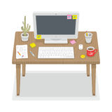 Computer desk Royalty Free Stock Photos