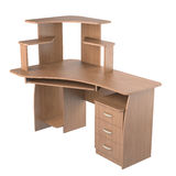 Computer desk Stock Photo
