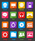 Computer Desktop Flat Design Icon Set. Vector Illustration Of Computer Desktop Flat Design Icon Set Stock Images