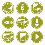 Computer device icons set vector illustration