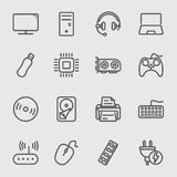 Computer device line icon Stock Photo