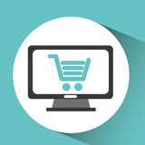 Computer device online shopping network icon Royalty Free Stock Photography