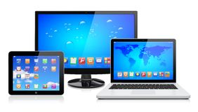 Computer devices Royalty Free Stock Photography