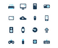 Computer and devices flat icon Royalty Free Stock Photography