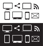 Computer devices icon set Royalty Free Stock Image
