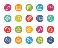 Computer and Devices Icons -- Printemps Series Stock Image