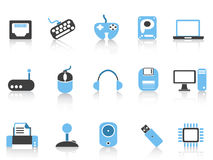 Computer & Devices icons set blue series Stock Photography