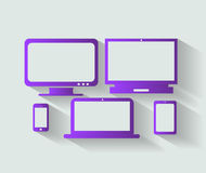 Computer devices icons vector Stock Photos