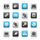 Computer & Devices // Matte Icons Series Stock Image