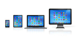Computer Devices Set Stock Photography