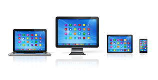 Computer Devices Set Royalty Free Stock Image