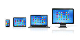Computer Devices Set Royalty Free Stock Photography